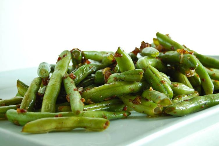 Garlic Green Beans with Soy Sauce