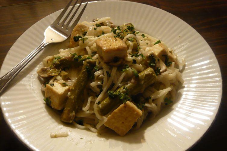 Coconut Key Lime Tofu with Asparagus and MushroomDelight 1