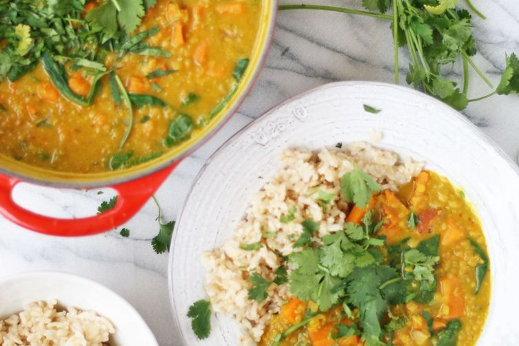Sweet Potato & Spinach Dal 1