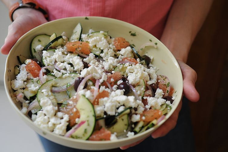 Red Grapefruit, Feta and Mint Salad 1