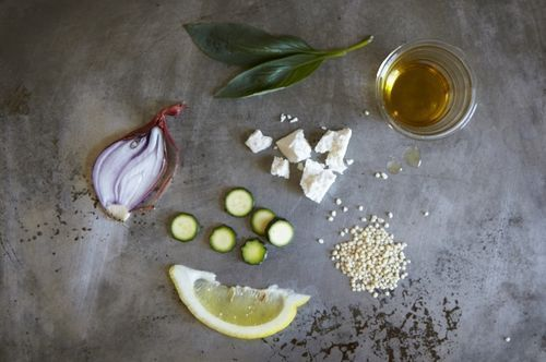 Couscous Salad with Zucchini, Lemon and RicottaSalata