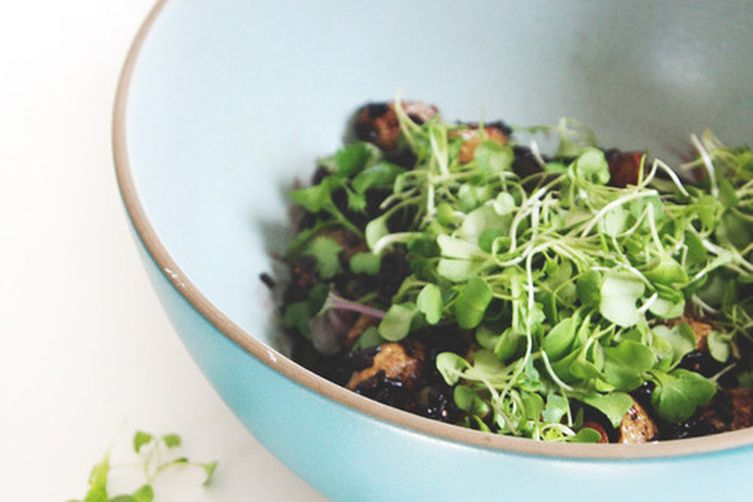 Black Rice Salad with Potatoes andCapers 1