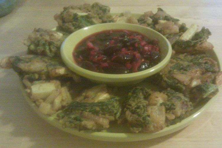 Vegetable Pakoras with Cherry Chutney 1