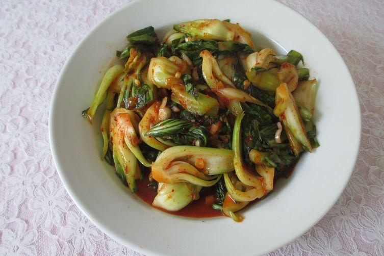 Baby Bok Choy Salad with Mama O's KimchiPaste