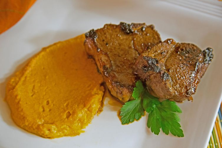 Marinated Lamb Chops On a Bed of Chinese Five Spice MashedYams 1