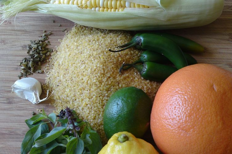 Cracked Wheat & Corn with Thai Basil, Citrus &Chiles 1