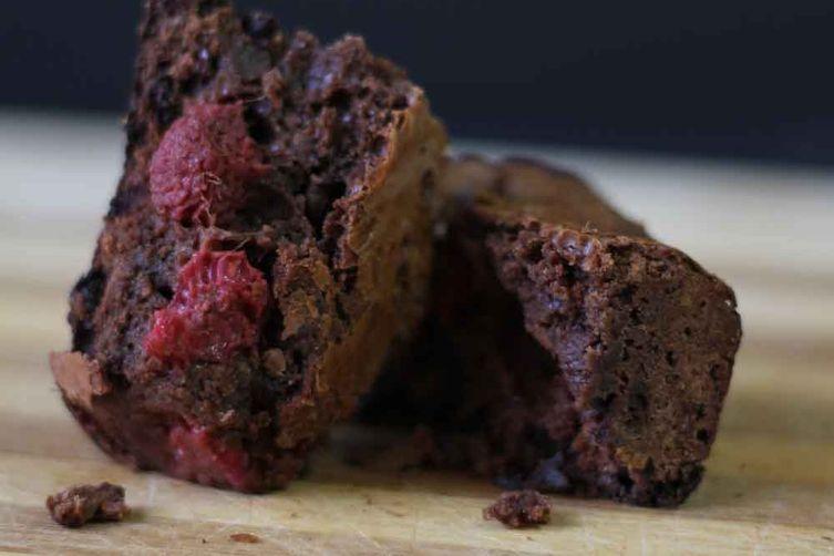 Dark Chocolate and RaspberryBrownies