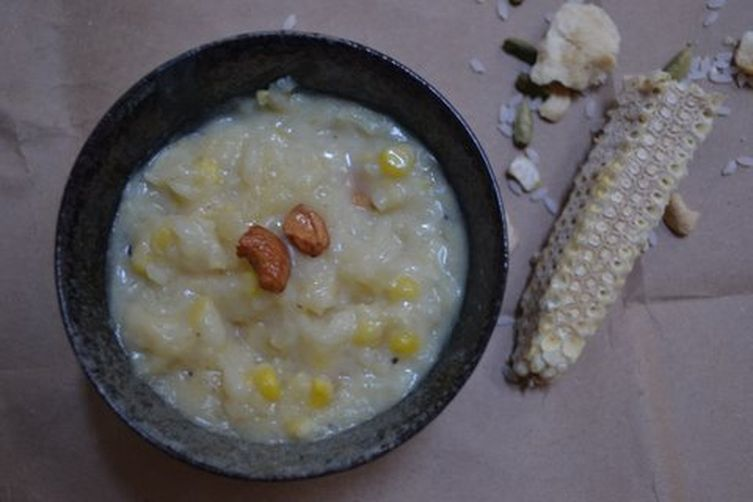 Sweet Corn & ricepudding