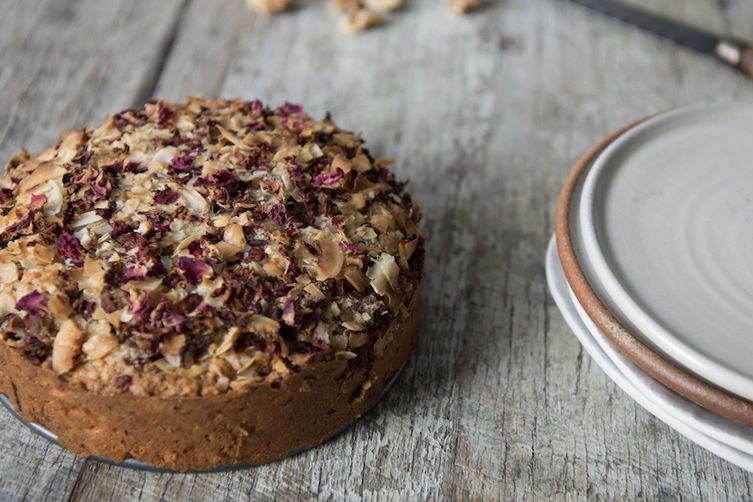 Spiced Coffee Cake with Coconut, Dates +Rose 1