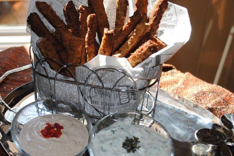 Chickpea Fries with Yogurt DippingSauce