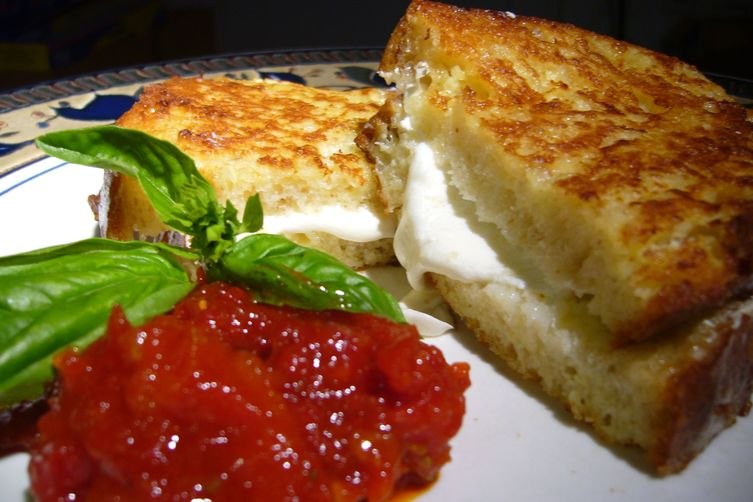 Mozzarella in Carrozza with Sun-Dried Tomato and Roasted Red PepperJam