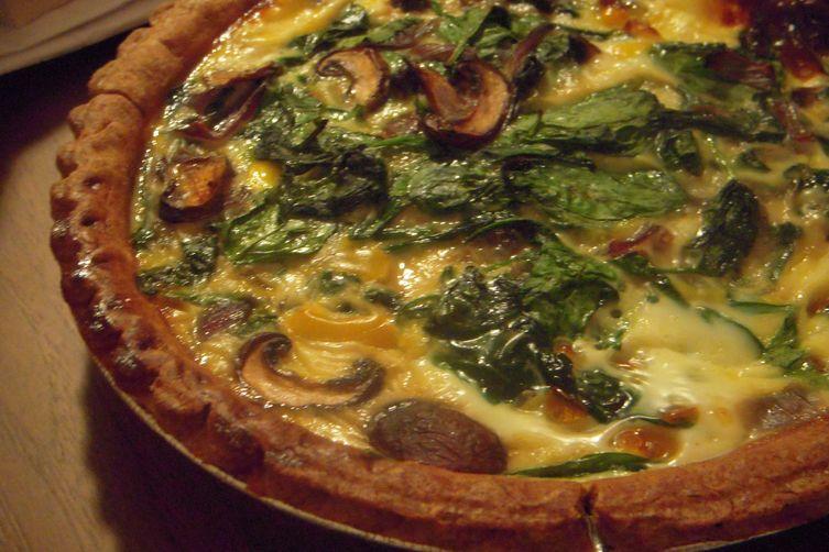 spinach, mushroom, and mozzarellaquiche 1