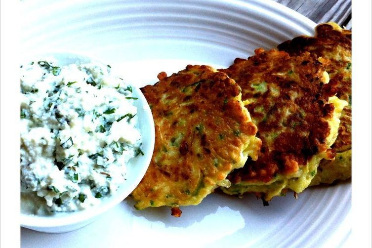 Zucchini Pancakes with Herbed Ricotta 1
