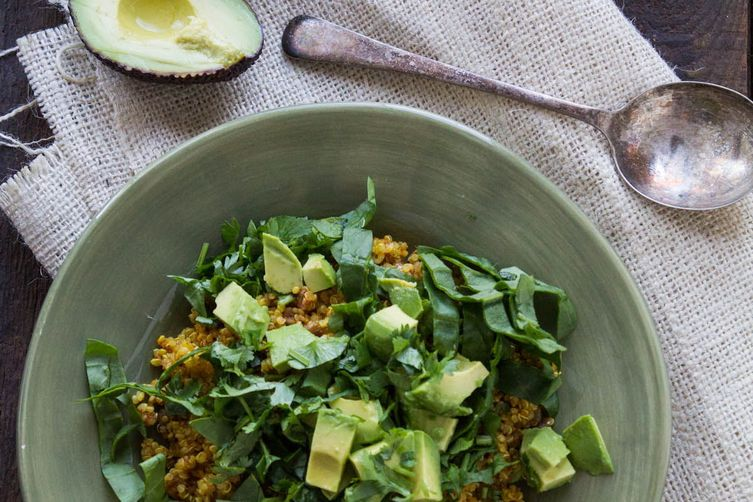 Curried Quinoa with Spinach andAvocado 1