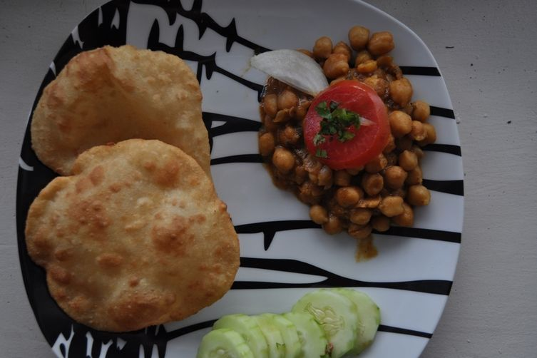 Chole Bhatura- Chickpeas or Garbanzo beans with friedbread