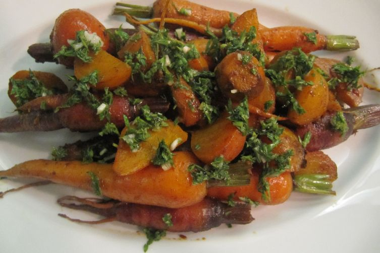 Sweet Roasted Roots with Carrot TopGremolata 1