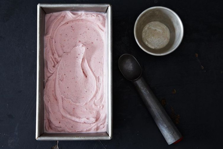 Strawberry Vanilla Coconut Ice Cream