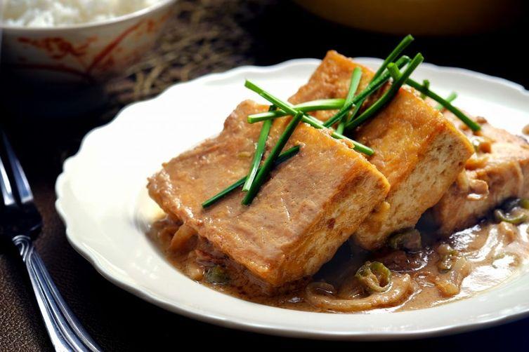 Braised Tofu in Spicy PeanutSauce 1