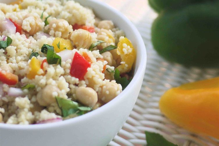 Couscous and chickpea salad 1