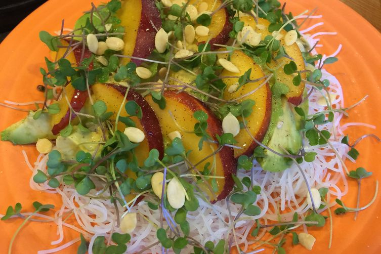 Lime Rice Noodles with Avocado &Nectarine 1