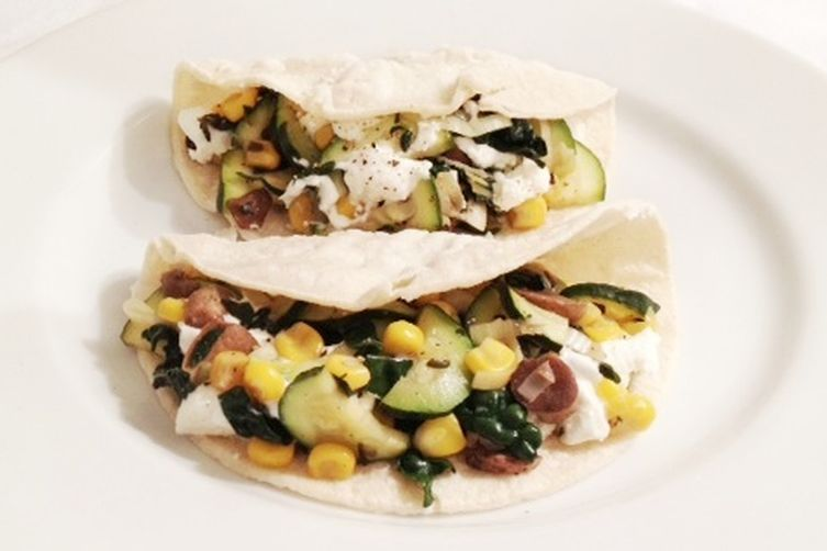 Vegetable Tacos With Goat Cheese And Truffle Oil 1