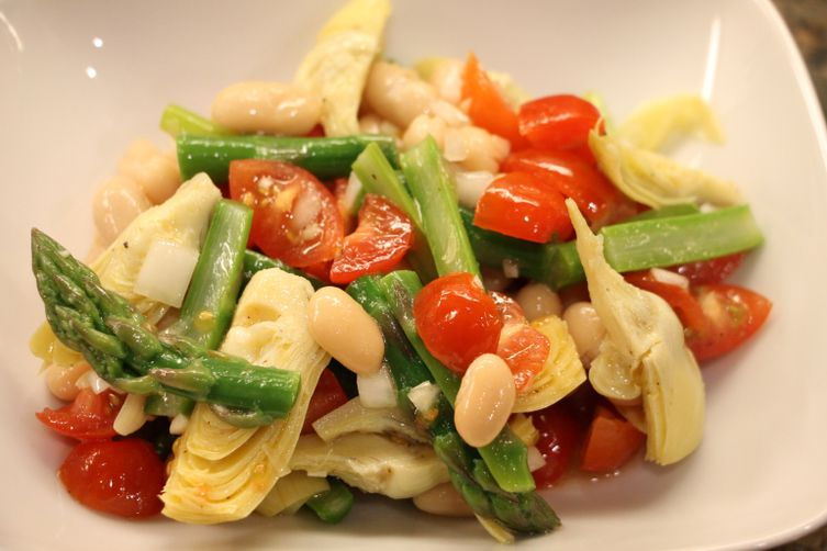 Light Spring Asparagus & Artichoke Salad 1