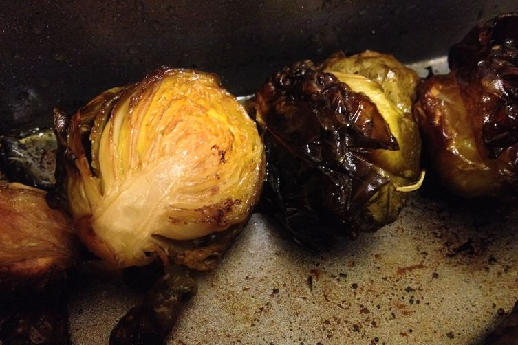 Braised Brussels Sprouts with Balsamic Vinegar and SoySauce 1