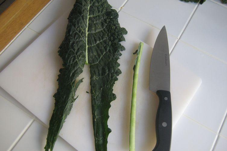 Miso Braised Kale andMushrooms