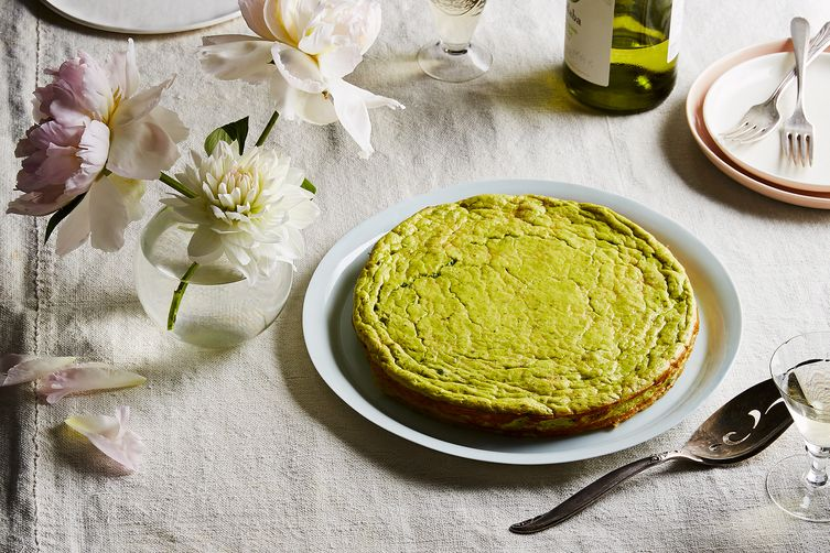 Spring Pea and Ricotta Torte with Lemon andMint 1